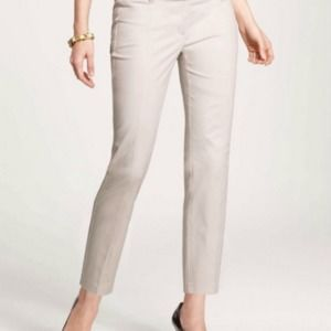 NEW Ann Taylor Beige Carnegie Crop Pants Career